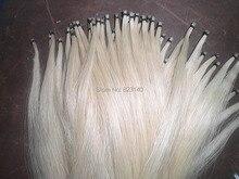 20 Strängen Beste Qualität Sibirien Weiß Hengst bogen haar 31 zoll, 5,5 gramm jedes hank