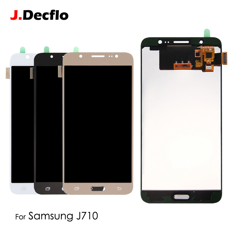 <font><b>LCD</b></font> Display Für Samsung Galaxy J710 J7 2016 <font><b>J710F</b></font> J710M J710FN Touchscreen Digitizer Montage Einstellbare Helligkeit image