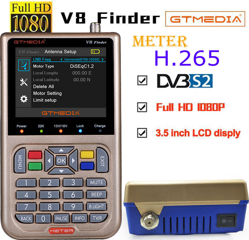 GTmedia V8 Finder 2pcs DVB-S2 vs <font><b>satlink</b></font> <font><b>6906</b></font> Satellite Finder 1080P <font><b>HD</b></font> Better than <font><b>satlink</b></font> <font><b>ws</b></font>-6933 <font><b>6906</b></font> freesat V8 finder image