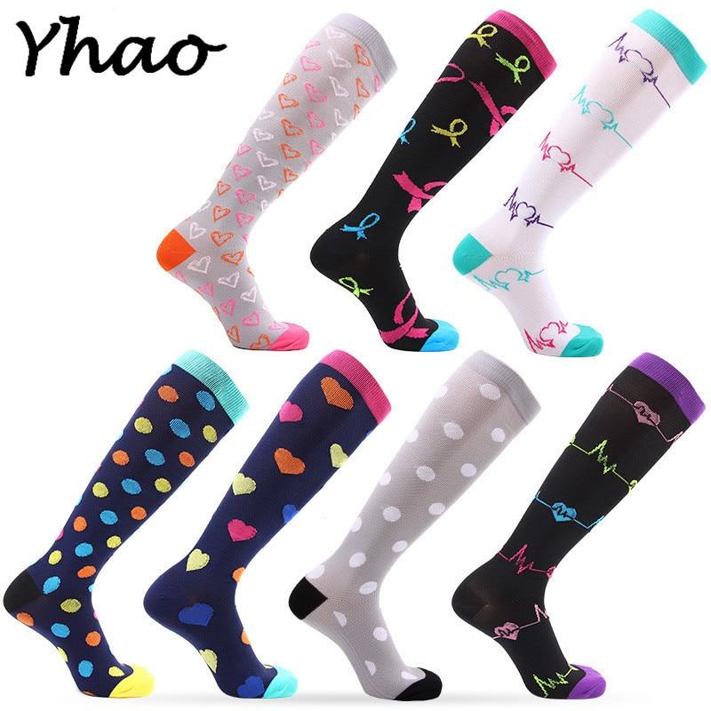 Compression Socks For Men & Women Best for Running Medical Sports Flight Travel Pregnancy - 20-25mmHg