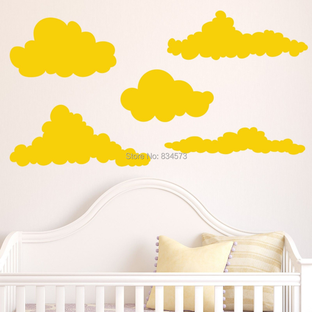 Hot Cloud Sky Silhouette Wall Art Stickers Decal Home DIY ...