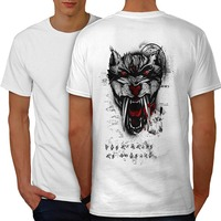 T Shirt Uomo 2018 Moda Illuminati Di Barretta di Modo Uomini Vivono tizio Pronto Inferno Bestia Tiger Animale Uomo Bianco S-3XL T-Shirt indietro