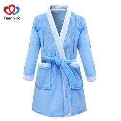 Children Bathrobes for Boys Velvet Sleepwear Baby Robes Pajamas for Girls Clothes Teens Striped Pijamas Kids Bath Robe Home Wear