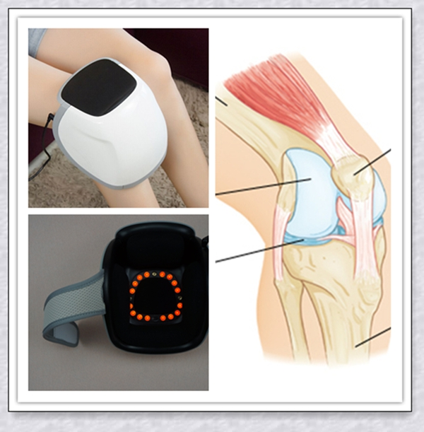 Clinical laser pain relief for treatment of soft tissue recovery, fracture healing, wounds, injuries, knee arthritis electronic pain relief devices for pain in back of knee and the knee treatment