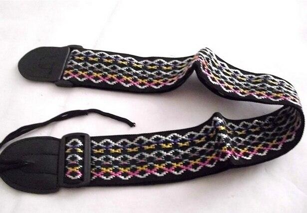 Instrumentos musicales de colores de nylon Ajustable correa de la guitarra eléct