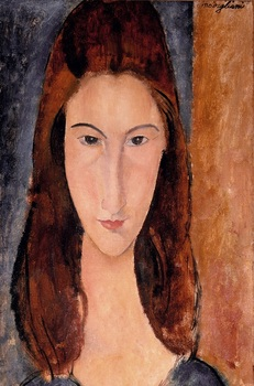 Jeanne Hebuterne 1919 Amedeo Modigliani art online for sale High quality oil on canvas woman Portrait painting Handmade image