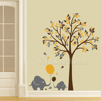 Large Tree Flower Blossom Butterfly Vinyl Wall Decal Sticker Living Room Bedroom Stickers 180x240cm