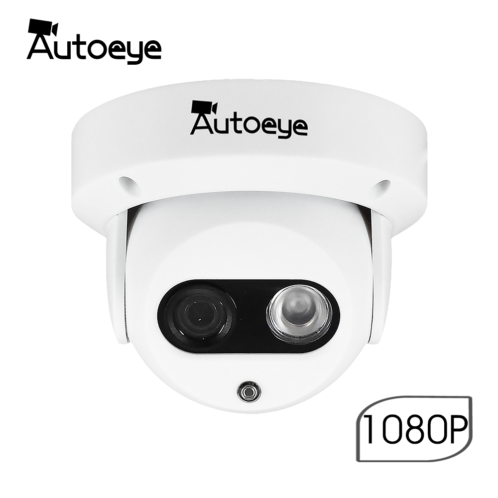 Autoeye 2.8mm PoE IP Camera 3MP 1080P Email Alert XMEye App Alarm ONVIF P2P Motion Detection RTSP 48V Surveillance CCTV indoor image