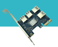30pcs Lot Aad In Card PCIe 1 To 4 PCI Express 1X Slots Riser Card Mini
