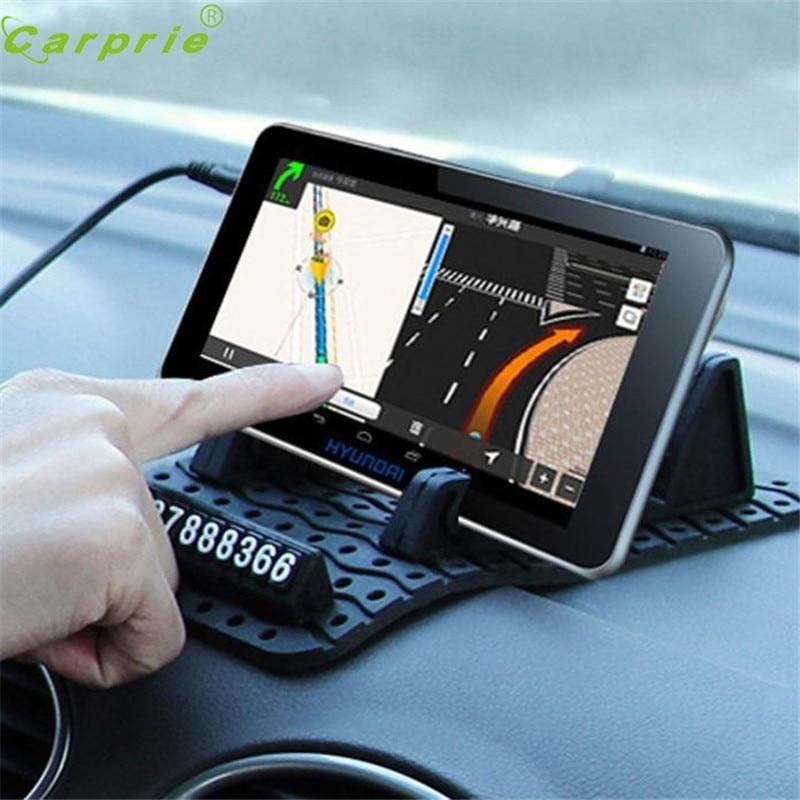 Auto Temporäre Parkkarte Anti-Beleg-auto-armaturenbrett Klebrige Auflage-rutschfeste Matte GPS-Halter Dec22