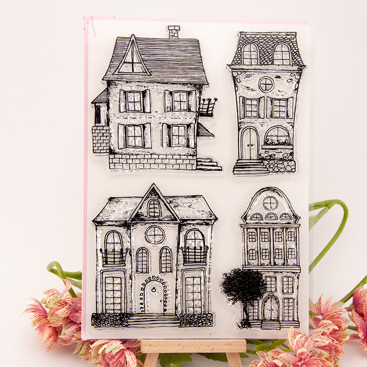 House Scrapbook DIY photo cards account rubber stamp clear stamp transparent stamp 16x22cm SD447 lovely animals and ballon design transparent clear silicone stamp for diy scrapbooking photo album clear stamp cl 278