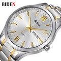 Reloj Hombre Marca de Topo de Luxo Simples Moda Casual Relógios Data Homens de Negócios À Prova D' Água Mens Relógio de Quartzo relogio masculino
