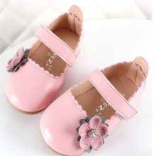 Xinfstreet Flower Toddler Girls Shoes Pu Leather Soft Baby Kids Princess Size 15-25