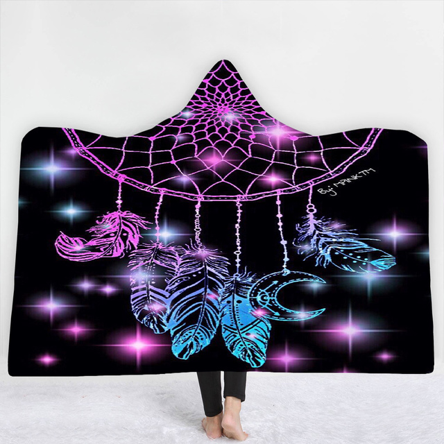 3D Print Owl Feather Hooded Blanket 2