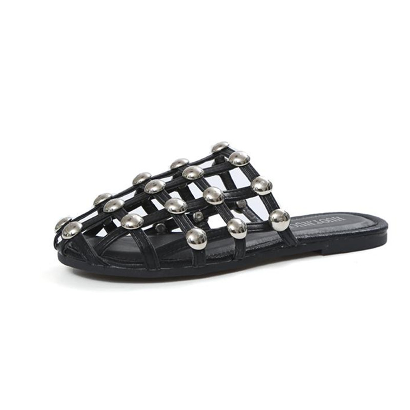 Women Sandals Flips Flops 2017 Summer Shoes Woman Wedges Rivet Sandals Fashion Hollow Platform Female Slides Ladies Shoes phyanic 2017 gladiator sandals gold silver shoes woman summer platform wedges glitters creepers casual women shoes phy3323