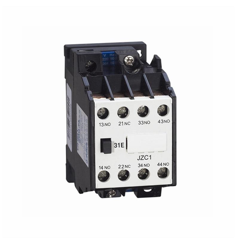 цена на AC Motor Contactor Relay Starter Ui 660V 1NC+3NO 4 Pole 110V 220V 380V 50Hz Coil Volt Ith 10A JZC1-31 DIN Rail Mount Contactor