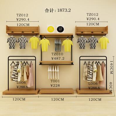 Étagère murale composite pour magasin | Présentoir mural pour magasin, décoration de magasin physique, présentoir pour vêtements et vêtements d'enfants