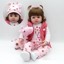 22 Lifelike Toddler Baby Bonecas Girl Doll House Vinyl Adora Bebe Reborn Menina de Silicone Christmas Toys Juguetes Brinquedos цена