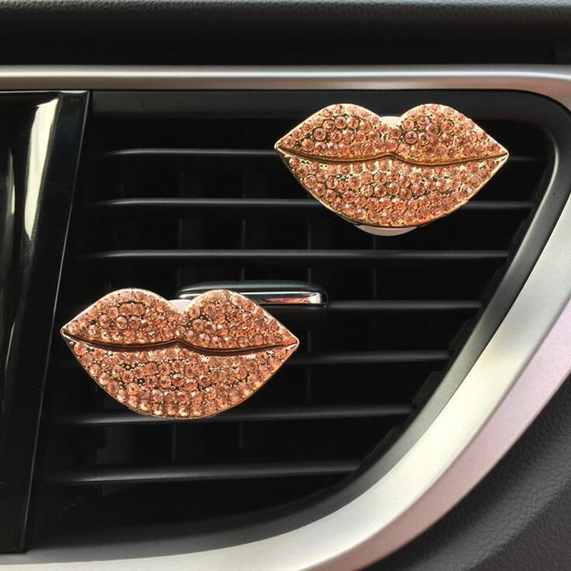 CDCOTN 2PCS Car Air Freshener Red Lips Air Conditioning air Outlet Perfume Clip Car Interior Decoration Accessories Styling in Air Freshener from Automobiles Motorcycles