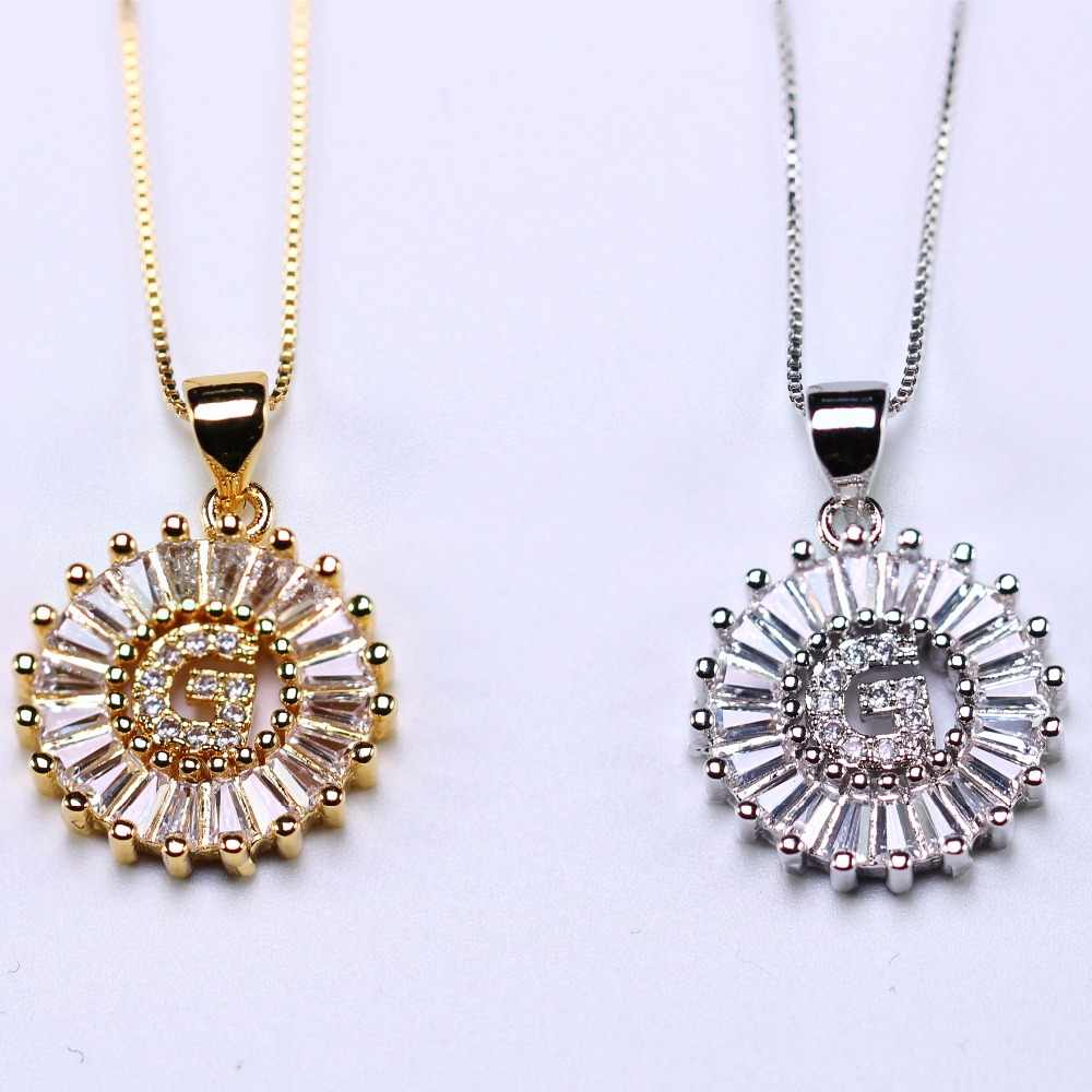 Alphabet Pendant Necklace personalized Initial Letter Necklace ABCDEFGHIJKLMNPRSTUXVY for Women Jewelry gift