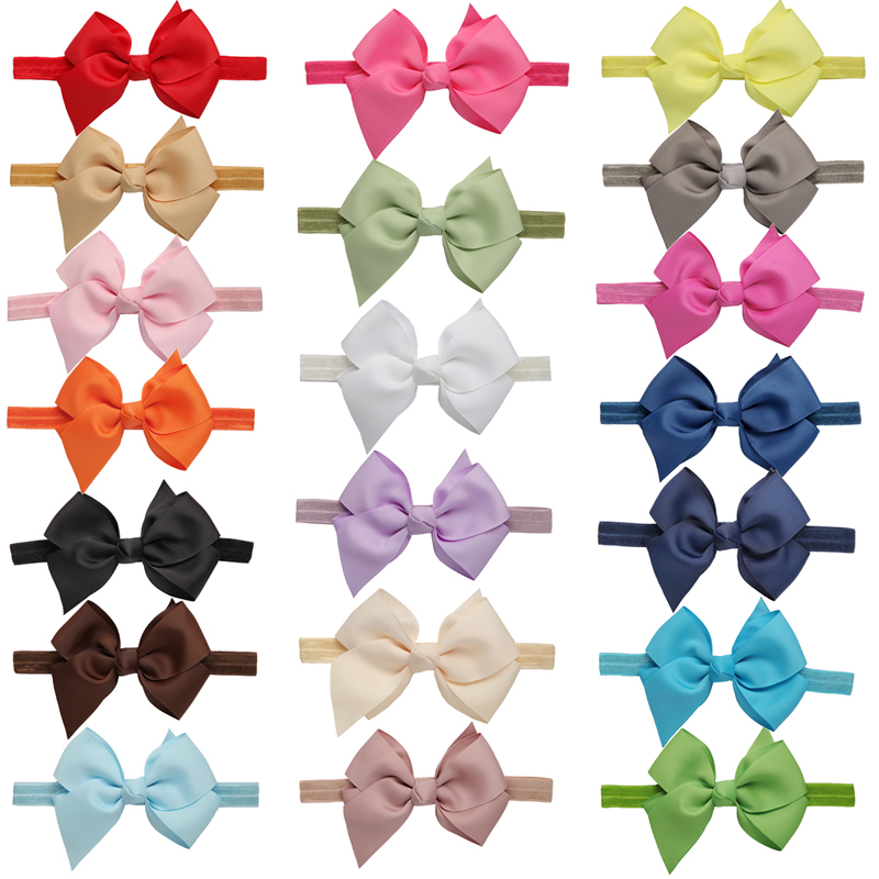2018 Baby Headbands 20 Pcs/lot Fancy Kids European Style Bow Knot Headwear Elastic Girls Hair Band Baby Cute Hair Accessories Mother & Kids