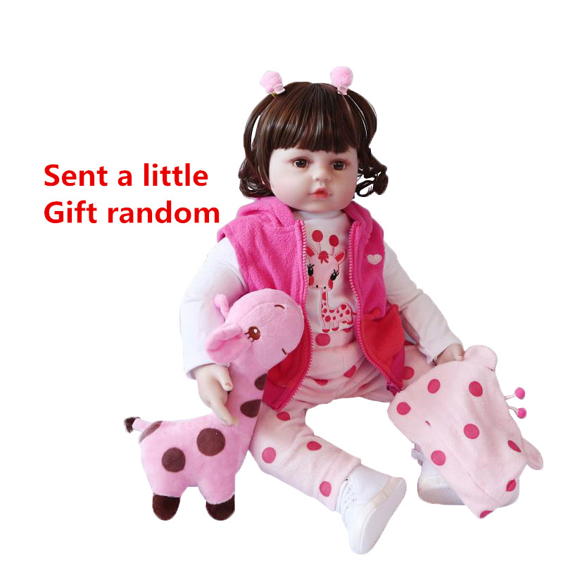 45cm/60cm Toy Baby Doll Reborn Dolls Silicone Reborn Baby Dolls Simulation Lifelike Toddler Doll Girls Toys For Children #ED45cm/60cm Toy Baby Doll Reborn Dolls Silicone Reborn Baby Dolls Simulation Lifelike Toddler Doll Girls Toys For Children #ED