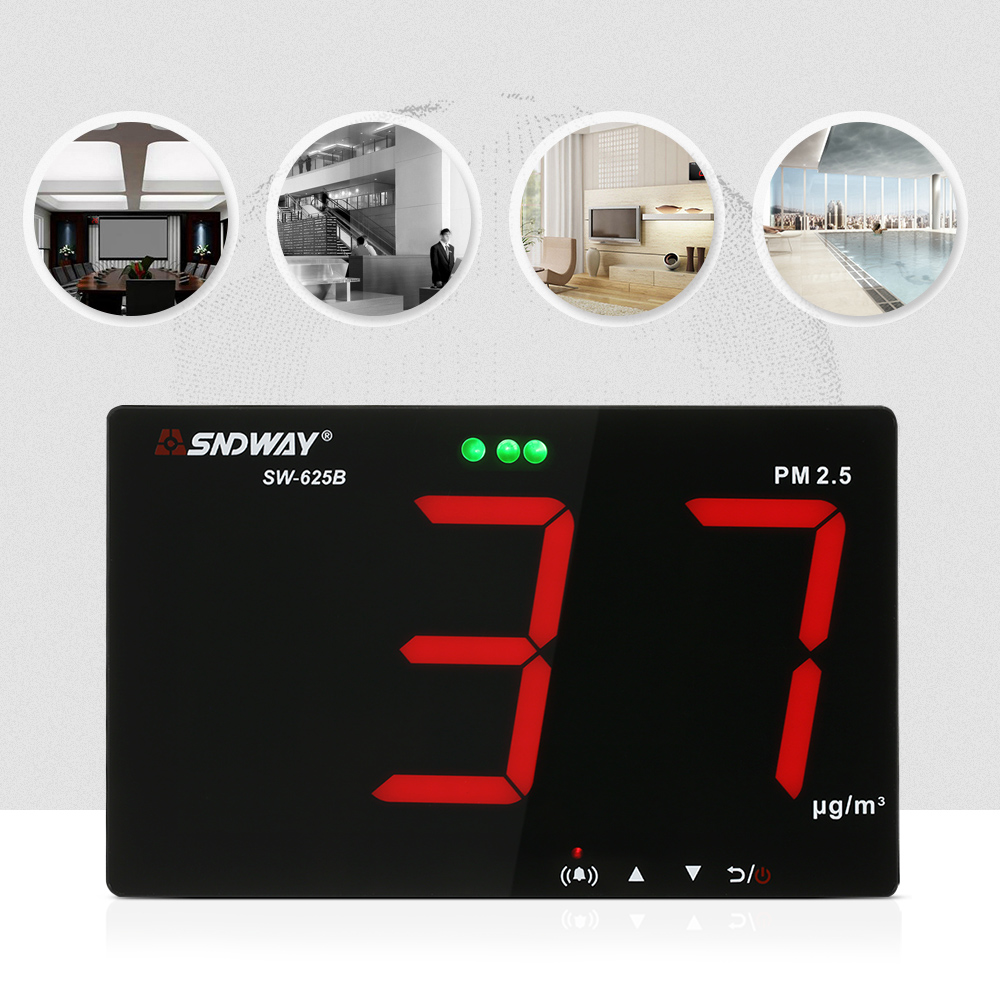 PM2.5 Detector with Data Storage Function Wall-mounted Air Quality Monitor Gas analyzer Air Detector Gas monitor Diagnostic toolPM2.5 Detector with Data Storage Function Wall-mounted Air Quality Monitor Gas analyzer Air Detector Gas monitor Diagnostic tool