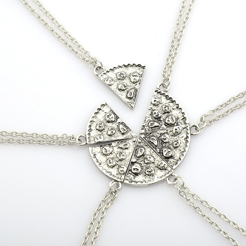 Stitching Friends Friendship Pizza Lovers Necklace Hot Model Wholesale Quick Sell Through Trade