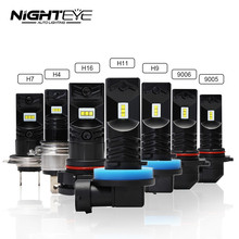 2pcs 1600Lm H1 H11 H8 LED Car Lights LED Bulbs 9005 HB3 9006 HB4 White H3 H7 H10 H16-EU DRL Fog Lamp 6500K 12V Driving Light