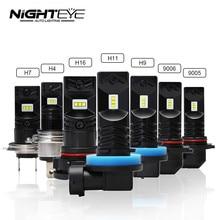 NOVSIGHT 2pcs 1600LM H1 H11 H8 LED Car Lights Bulbs 9005 HB3 9006 HB4 LED H3 H7 H10 H16-EU DRL Fog Lamp 6500K Driving Light