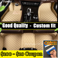Special make car floor mats for Audi A8 L A8L 3D foot case all weather car styling rugs custom perfect carpet liners waterproof