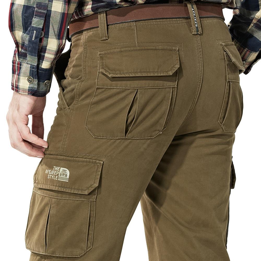 Зимние мужские брюки-карго, плотные теплые флисовые брюки, мужские тактические брюки, мужские брюки с карманами, военные брюки, мужские боль...