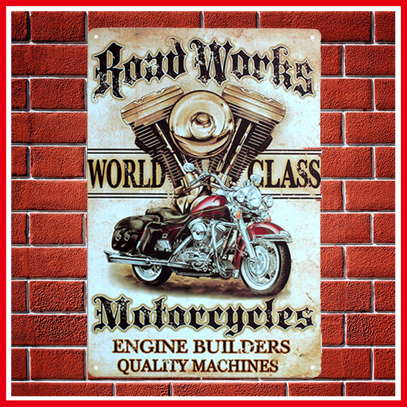 New Vintage Motorcycles Metal Signs Home Decor Vintage Tin Signs Pub ...