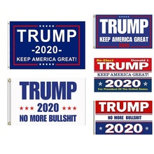 Trump 2020 Flags And Banners Double Sided Printed Flag Presidential Election Banner Fabic Keep America Great
