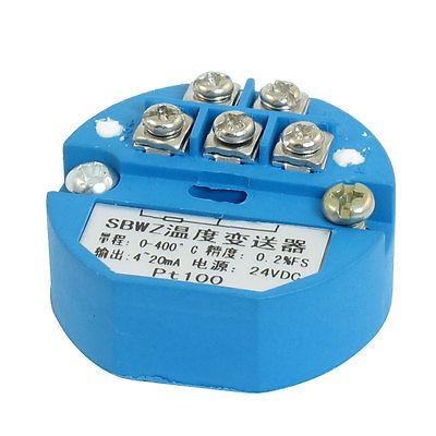 PT100 Thermocouple Temperature Sensor Transmitter 0-400C DC 24Volt pt100 thermocouple temperature sensor transmitter 0 250c dc 24volt