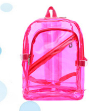 Fashion Personality Backpack Cute Jelly Transparent Waterproof PVC  Plastic Mini Teenager Girls notebook School Bag