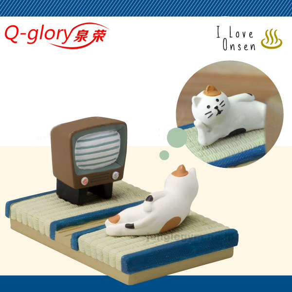 zakka cats and phoenix resin home decor couch trip meter spa ornaments phonde stand cat lazy