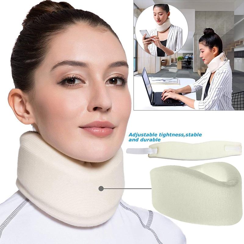 Unisex Soft Foam Adjustable Neck Brace Support Cervical Collar Strain Back Whiplash Pain Relief Massage Tool Home Office