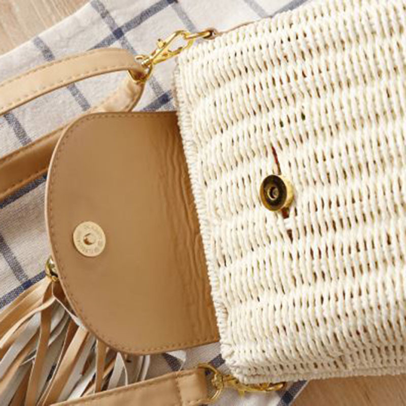 New Women Tassel Straw Bags Bohemian Female Vintage Rattan Knitted Handbag Summer Beach Lady Casual Weave Shoulder Bag SS3161 (13)