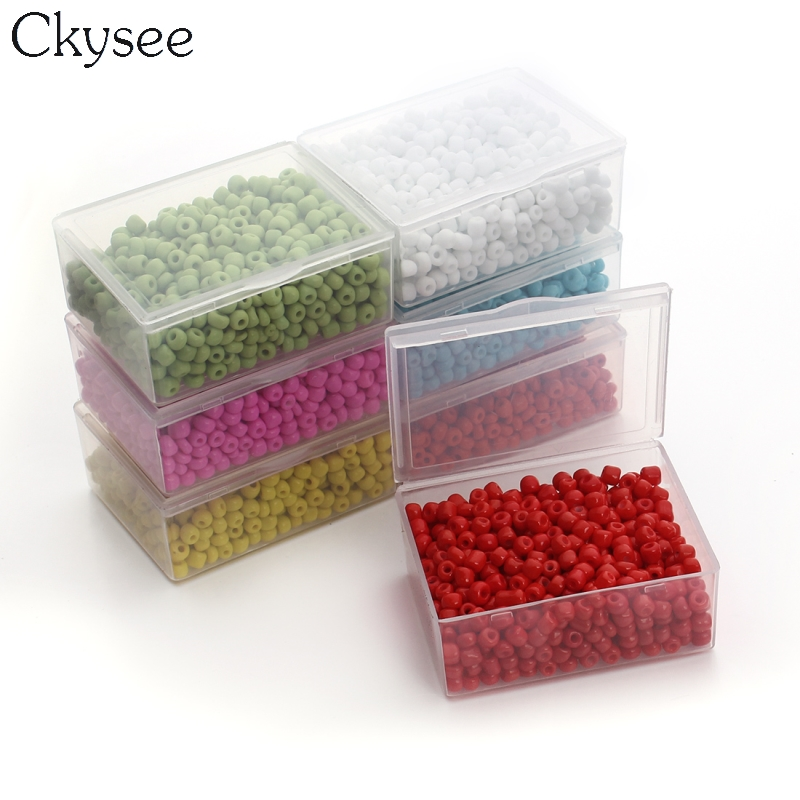 Ckysee 500pcs/lot Multi-color 4mm Crystal Glass Seed Beads Loose Spacer Hama Czech Beads For Diy Jewelry Making Perles Berloque Packing Of Nominated Brand Beads