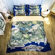 WAZIR 3D Lion Animal print Sanding Bedding Set bed linen Duvet Cover Pillowcases Home Textile Bedclothes bedding sheet PUBG