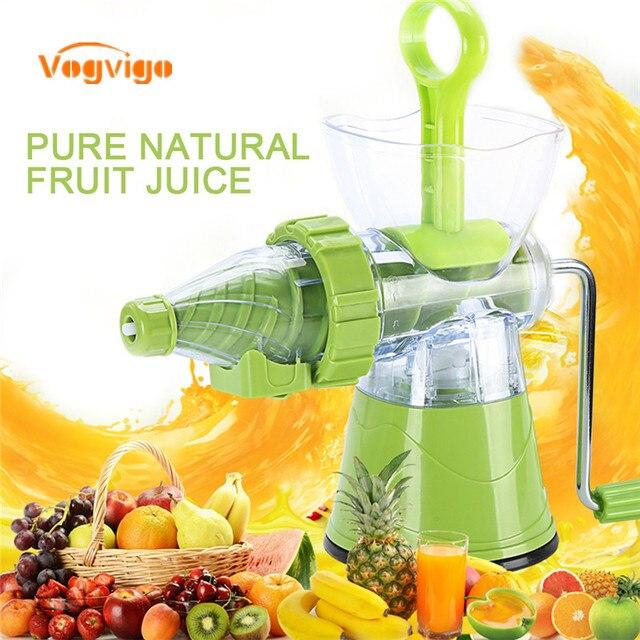 Vogvigo Kunststoff Hand Gekropft Gemuse Entsafter Obst Saft Mischen