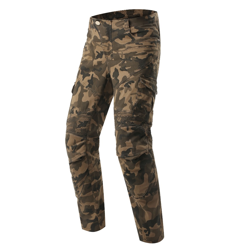 Scoyco P043 protective jeans knee protector Rider camouflage pants Motorcycle racing trousers Leisure pantalones moto Camouflage durable dabbling camouflage trousers size l