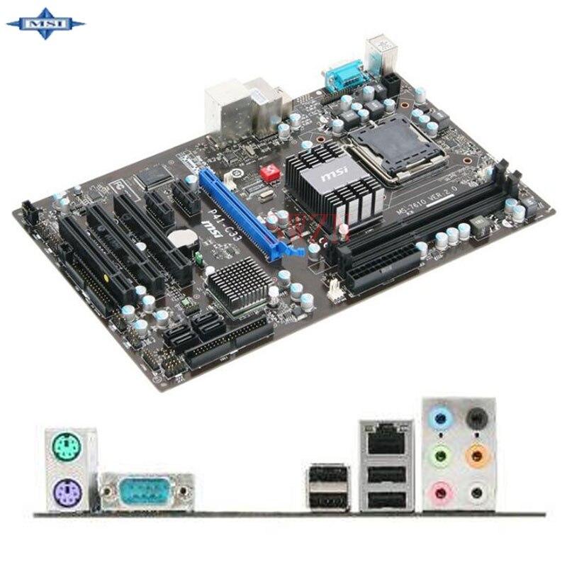 original Used Desktop motherboard For msi P41-C33 P41 support LGA 775   2*DDR3 support 8G 4*SATA2 USB2.0 ATX used motherboard mainboard for msi p31 neo2 lga 775 ddr2 usb2 0