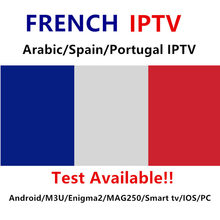 Promotion French belguim Iptv subscription Live TV VOD Movies channels French Arabic Europe one year Smart TV box(China)