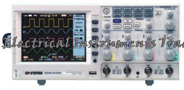 Oscilloscope numérique Gwinstek à arrivée rapide GDS-2104 DSO, taux d'échantillonnage en temps réel maximal 1GSa/s, 100 MHz, 4 canaux, 5.6 intch