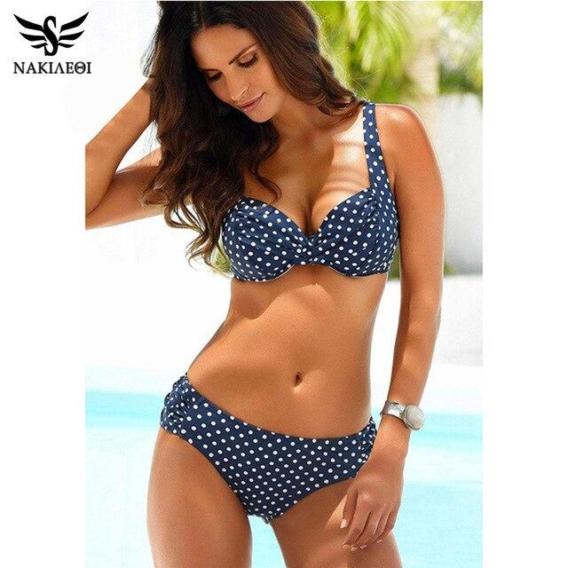 f87f7dfbb01 NAKIAEOI 2019 New Sexy Bikinis Women Swimwear Push Up Swimsuits Halter Top  Brazilian Bikini Set Summer Beach Bathing Suits S~XL