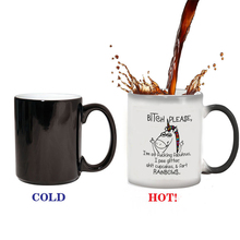 cute unicorn Mugs magic coffee mug color changing heat sensitive ceramic mugs best gift for your friends