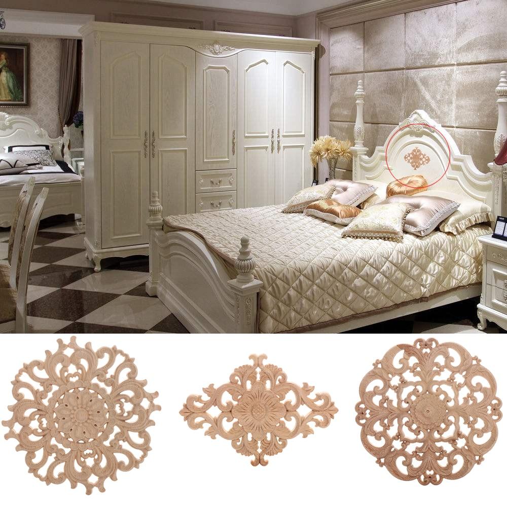 Quadro-de-Parede-decorativo-Moda-Floral-Apliques-de-Mad01eira-Esculpida-Decalque-Canto-M-veis-Portas-de