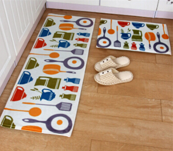 2pcs Set Bathroom Mat Non Slip Kitchen Doormat Modern Entrance Tapete Hallway Area Rug